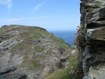 SX07279 Zig zag steps up Tintagel Island.jpg